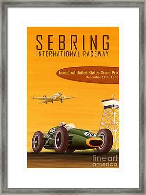 Sebring Raceway Poster Framed Print by Jon Neidert