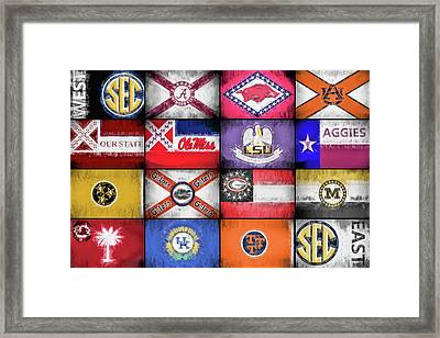 Sec Flags Framed Print by JC Findley