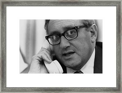 Sec. Of State Henry Kissinger Framed Print by Everett