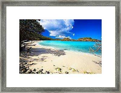 Secluded  Beach Framed Print