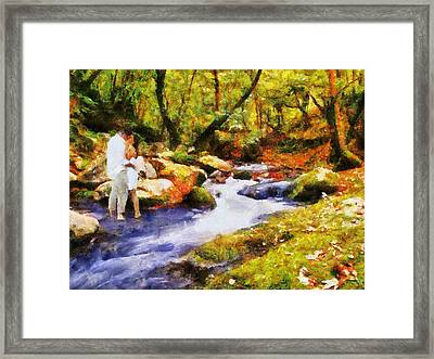 Secluded Stream Framed Print