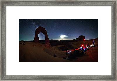 Seclusion At Delicate Arch Framed Print