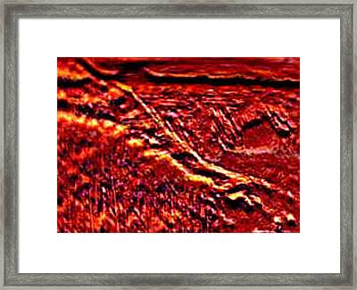 Seclusively Red Is The South Rim Framed Print by Brenda L Spencer