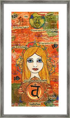 Second Chakra Framed Print