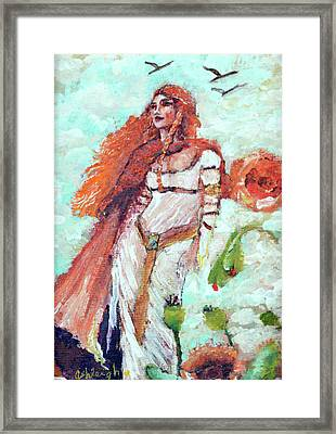 Second Chakra Angel Persistence Clarity Change Framed Print