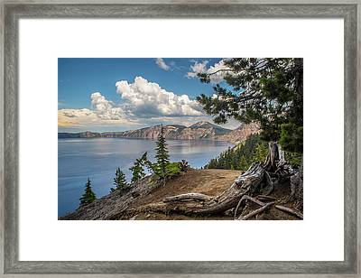Second Crater View Framed Print