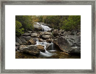 Second Falls - Blue Ridge Falls Framed Print by Andrew Soundarajan