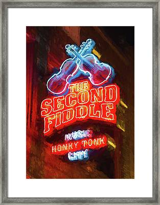 Second Fiddle - Impressionistic Framed Print by Stephen Stookey