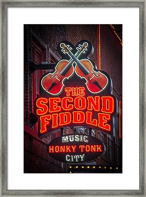 Second Fiddle Nashville Framed Print by Mike Burgquist