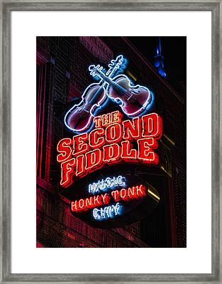 Second Fiddle Framed Print by Stephen Stookey