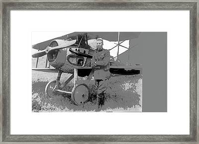 Second Lieutenant Frank Luke With His  Spad S.xiii On September 19, 1918 Somewhere In France-2016  Framed Print by David Lee Guss