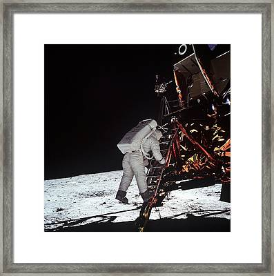 Second Man On The Moon. Astronaut Edwin Framed Print by Everett