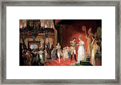 Second Marriage Framed Print by Jean-Baptiste Debret