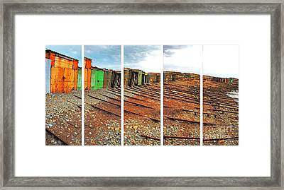 Framed Print featuring the photograph Second Valley Boat Sheds by Stephen Mitchell