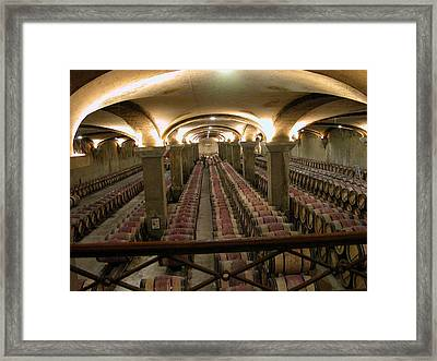 Second Year Cellar At Chateau Margaux Framed Print