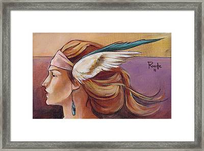 Secondary Wings Left Framed Print by Jacque Hudson