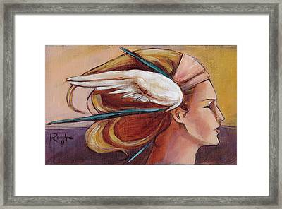 Secondary Wings Right Framed Print by Jacque Hudson