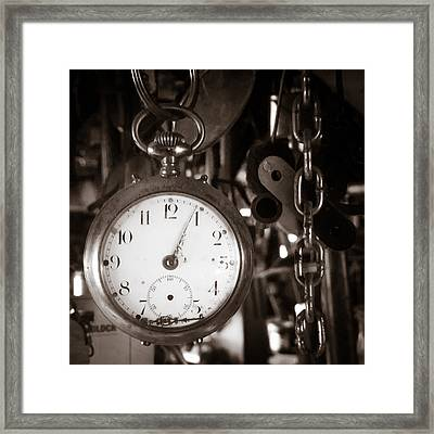 Framed Print featuring the photograph Seconds Past by Chris Bordeleau