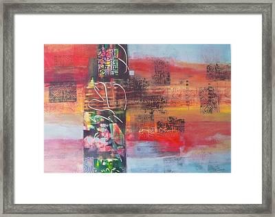 Secrate Strata Framed Print by Miriam  Pinkerton