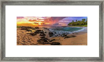 Secret Beach Ko Olina Framed Print