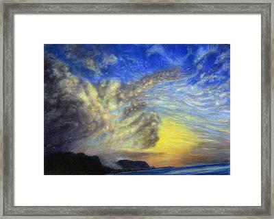 Secret Beach Sunset Framed Print by Kenneth Grzesik