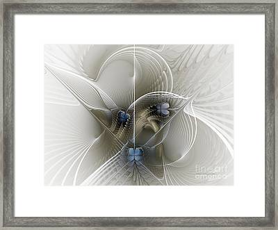 Framed Print featuring the digital art Secret Chambers by Karin Kuhlmann