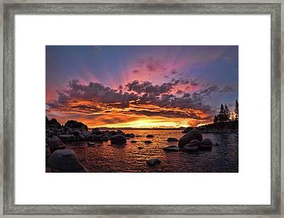 Secret Cove Sunset Framed Print