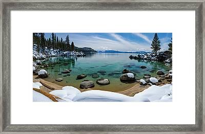 Secret Cove Winter Panorama By Brad Scott Framed Print
