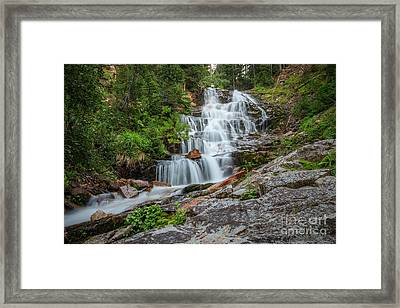 Framed Print featuring the photograph Secret Falls by Spencer Baugh