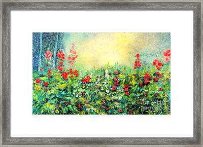 Secret Garden 2 - 150x90 Cm Framed Print