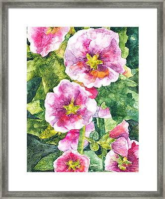 Framed Print featuring the painting Secret Garden by Casey Rasmussen White