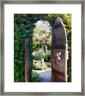 Secret Garden Framed Print by Elaine Plesser