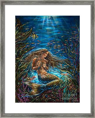 Secret Garden In The Sea Framed Print by Linda Olsen