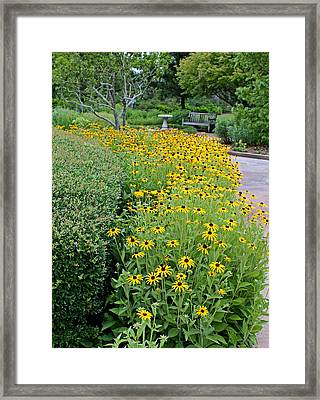 Framed Print featuring the photograph Secret Garden by Judy Vincent