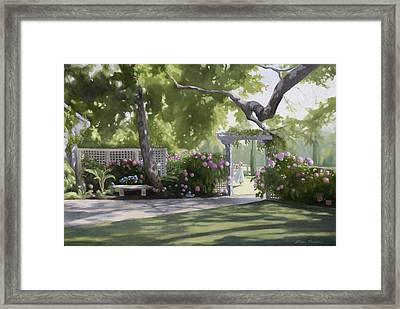 Secret Garden Framed Print by Linda Tenukas