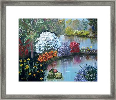 Secret Garden Framed Print by Phyllis Kaltenbach