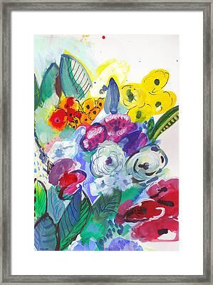 Secret Garden With Wild Flowers Framed Print