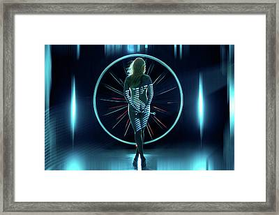 Framed Print featuring the photograph Secret Hangar by Dario Infini