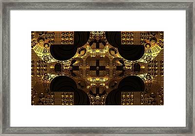 Secret Of The Golden Cross Framed Print