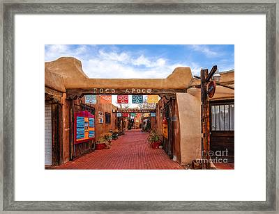 Secret Passageway At Old Town Albuquerque - New Mexico Framed Print