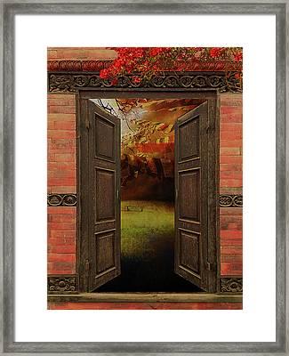 Secret Prayer Garden Framed Print by Jeff Burgess