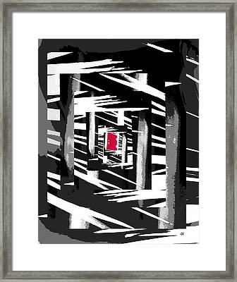 Secret Red Door Framed Print by Gerlinde Keating - Galleria GK Keating Associates Inc
