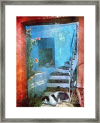 Framed Print featuring the digital art Secret Space by Alexis Rotella