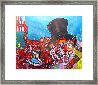 Secret Tigers Framed Print