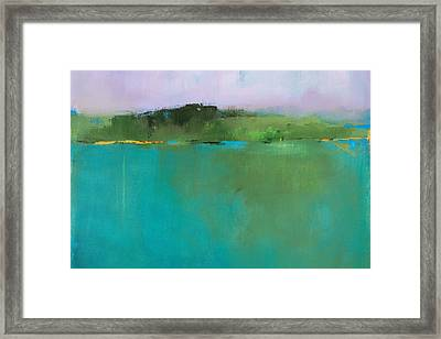 Secret Vermont Oasis Cropped Framed Print by Jacquie Gouveia