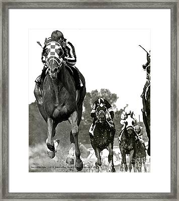 Secretariat, 1973 Kentucky Derby, Record Time Of 1 59 2 5ths Framed Print