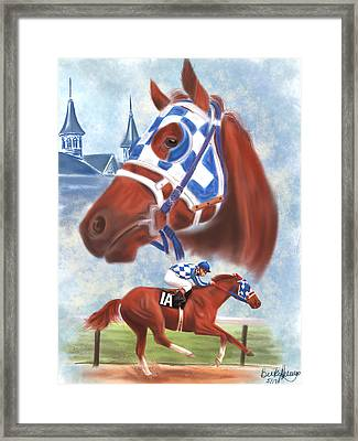 Secretariat Racehorse Portrait Framed Print