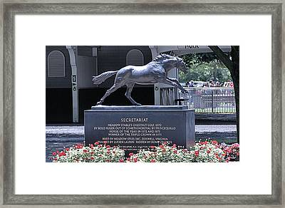 Framed Print featuring the photograph Secretariat by  Newwwman