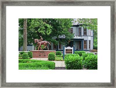 Secretariat Statue At The Kentucky Horse Park Framed Print
