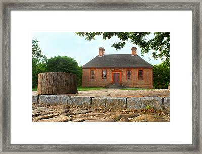 Secretary House - Williamsburg Va Framed Print by Panos Trivoulides